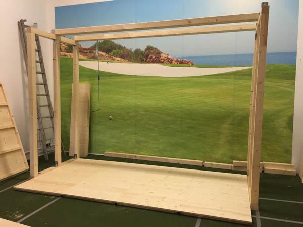 abschlagmatten kunstrasen bodenpodest golfsimulator. Black Bedroom Furniture Sets. Home Design Ideas